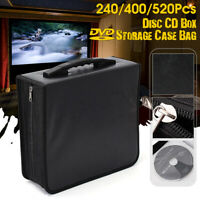400 Disc CD DVD Bluray Storage Holder Solution Binder Book Carrying Case New US