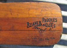 New ListingVintage Beaver Brand Paddles & Oars Clarksville Tenn Wooden Cabin Decor sign old