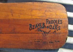 VINTAGE BEAVER BRAND PADDLES & OARS CLARKSVILLE TENN WOODEN CABIN DECOR sign old
