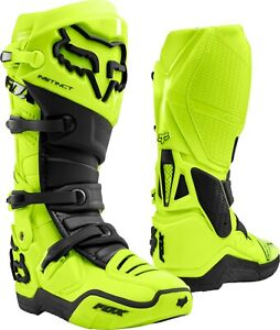 New 2021 Fox Racing Adult Instinct Boot Florescent Yellow Size 11