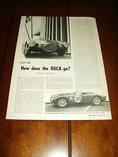 1955 OSCA 1490 cc SPYDER  ***ORIGINAL VINTAGE ARTICLE***