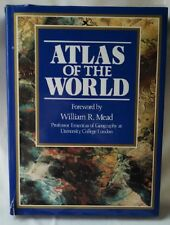 1989 World Atlas Hardcover with Book Cover-CLB Publishing Inc - CLB2299