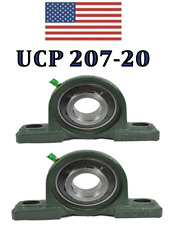 Ucp207 20 Pillow Block Bearing 1 14 Bore 2 Bolt 2 Pack Fast Ship