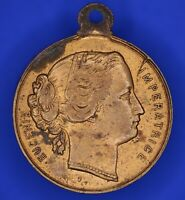 French France EUGÉNIE IMPÉRATRICE Lille 1867 brass medal [18195]
