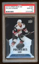 POP 1 PSA 10 DYLAN STROME 2016 UD ICE RC #D 19/99 ICE ROOKIE PREMIERES  ONLY 10