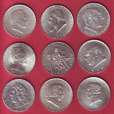 R* AUSTRIA 9 COINS LOT 2 SCHILLING SILVER 1928-1936 VF/XF+ DETAILS