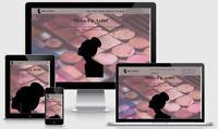 Make-Up Webseite schlüsselfertig mit Domain und Webspace nur 9,99 € / Monat