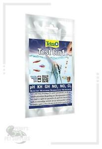 Tetra 6 in 1 Water Test Strip Fish Tank Test Kit 10 Strips