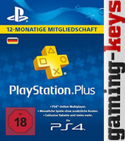 PSN Karte DE 365 Tage 12 Monate PLUS PlayStation Network Card - PSN PS4 PS Vita