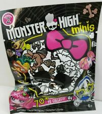Monster High Season 2 Mystery Blind Bag Single Mini Figure w/ Collector's Guide