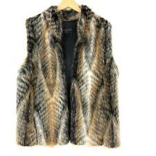 Fabulous Furs By Donna Salyers Women's Sz L Lynx Faux Fur Vest  Hook and Eye