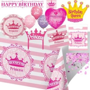 Princess Royalty Birthday Party Supplies Tableware, Decorations & Balloons