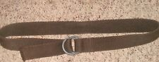 Unisex Fully Adjustable Canvas Web Belt with Buckle fits up to  41'' Long Brown