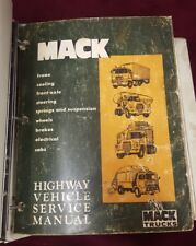 Mack Highway Vehicle Service Manuals (lot of 2) Chassis/Drive Components