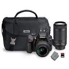 Nikon D3400 DX Bundle-AF-S DX Nikkor 18-55mm/70-300mm Lens-Extended Warranty-NIB