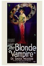 THE BLONDE VAMPIRE Movie POSTER 27x40 De Sacia Mooers Joseph W. Smiley Charles