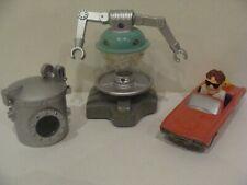 3 x McDonald's Happy Meal Toys - FLUBBER - CAR - MOOSE - FLUBBER TANK -1998 -(3)