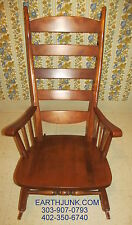 Tell City Rocking Chair High Back Rocker Hard Rock Andover Maple 696 &1/2
