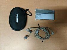 Original Shure Se215 In Ear Sound Isolating Headphone Earphone (Clear)