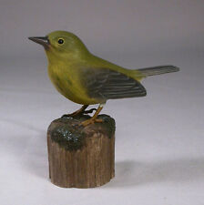 Pine Warbler Original Bird Carving/Birdhug