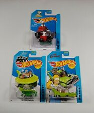 3) Hot Wheels 2015 HW CITY - Tooned The Jetsons Capsule, The Simpsons, Snoopy