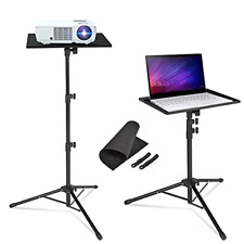 New listing AkTop Pro Laptop Projector Tripod Stand, Universal Laptop Floor Stand Adjustable