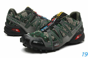 Hot Men's Outdoor Salomon Speedcross 3  Military camouflage Sports Hiking Shoes