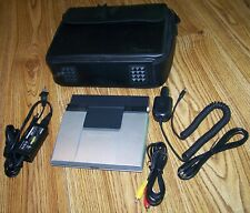 """Toshiba SD-P1400 Portable 7"""" DVD Player w/ AC Adapter, Car Charger, Cables, Case"""