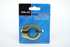 Mountain/Road Bike Seat Post Clamp 31.8mm for 27.2mm Seatpost, Gold/Yellow