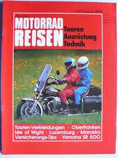 Nitschkes Motorrad Reisen, 4.1984 - Touren, Ausrüstung, Technik