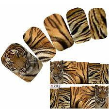 Tattoo Nail Art Aufkleber Glitzer Löwe Lion Leopard Nagel Sticker Neu!