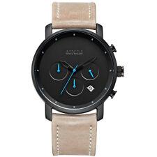 Baogela Men's Watches Quartz Movement Brown Leather Strap Waterproof Wrist Watch