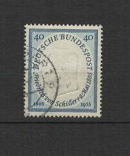 1955 Bundespost ALLEMAGNE poète F. Von Schiller 1 timbre oblitéré /T3300