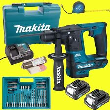Makita Marteau-perforateur sans fil hr166dsae1 avec 2x 2,0 accus +