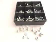 Assorted M6, M8 Grade 8.8 High Tensile Hex Head Set Screw Bolts Full Nuts 180pcs