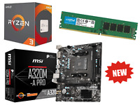 AMD Quad Core Ryzen 3 Gaming Bundle 8GB RAM, HD, MSI Pro Motherboard