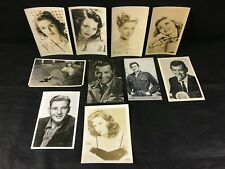 Vintage MOVIE STAR CELEBRITY POST CARDS PHOTOS Lot x 10 Ingrid Bergman Fontaine