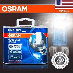 2x HB4 OSRAM COOL BLUE ADVANCE Bulbs DuoBox +50% 5000K MEGA WHITE for FRONT FOG