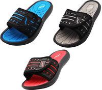 Norty Boy's Summer Comfort Casual Slide Flat Strap Shower Sandals Slip On Shoes