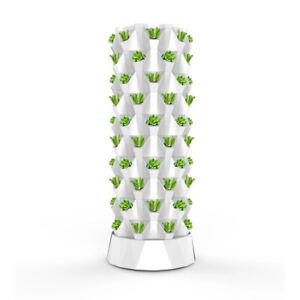 Vertical Hydroponic System Tower Garden 6 LED Grow Lights Masterblend Fertilizer