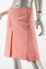 MOSCHINO Cheap & Chic Pink Bottom Pleated Skirt w/ Satin Piping Sz 42/US 8