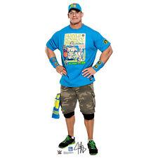 JOHN CENA WWE Wrestling Blue Shirt Lifesize CARDBOARD CUTOUT Standup Standee F/S
