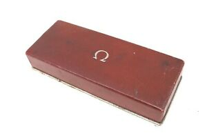 A Nice Original & Genuine Vintage Omega Red Leather Watch Box #29725