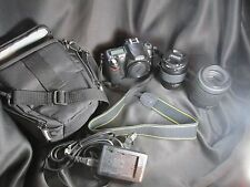 Nikon D50 6.1MP Digital SLR Camera Bundle with 2 Lenses, case, charger, battery