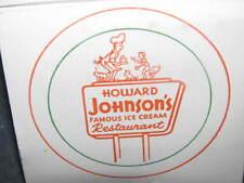 Vintage 1960's HOWARD JOHNSON HOJO AD WALDORF MOTEL Matchbook Matche Restaurant