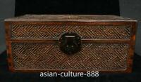Chinese Dynasty Palace Huang Huali Wood Storage Jewelry Box Treasure Case Statue