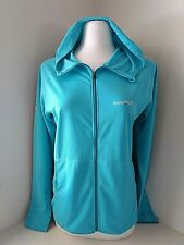 Mont-bell blue full zip hoodie jacket pockets Thumb holes Womens Size Large