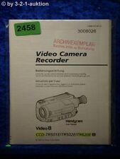 Sony Manuel d'utilisation CCD tr501e/tr502e/tr620e Video Camera (#2458)