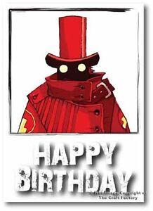 Happy Birthday Card -  Mad and Rad Range -Red Hat PB001 - Blank Card