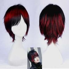 Adult Kuroko's Basketball Short Straight Hair Mix Colors Cosplay Wig Full Free